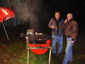 Les organisateurs, cdb et copi sur barbecue!