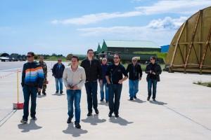 Le groupe de Saint-Exupéry vers les présentations en vol