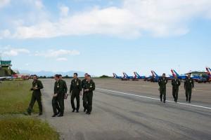 Les pilotes de la PAF 2014 en chemin vers le débriefing