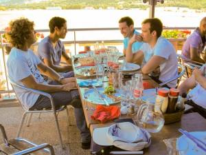 Pause déjeuner à Gap avant le retour vers Bastia