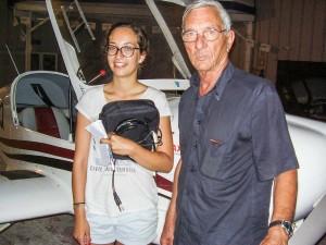 Marina a obtenu avec succès son brevet après avoir retiré le plus grand profit de la formation dispensée par son instructeur René Amoretti