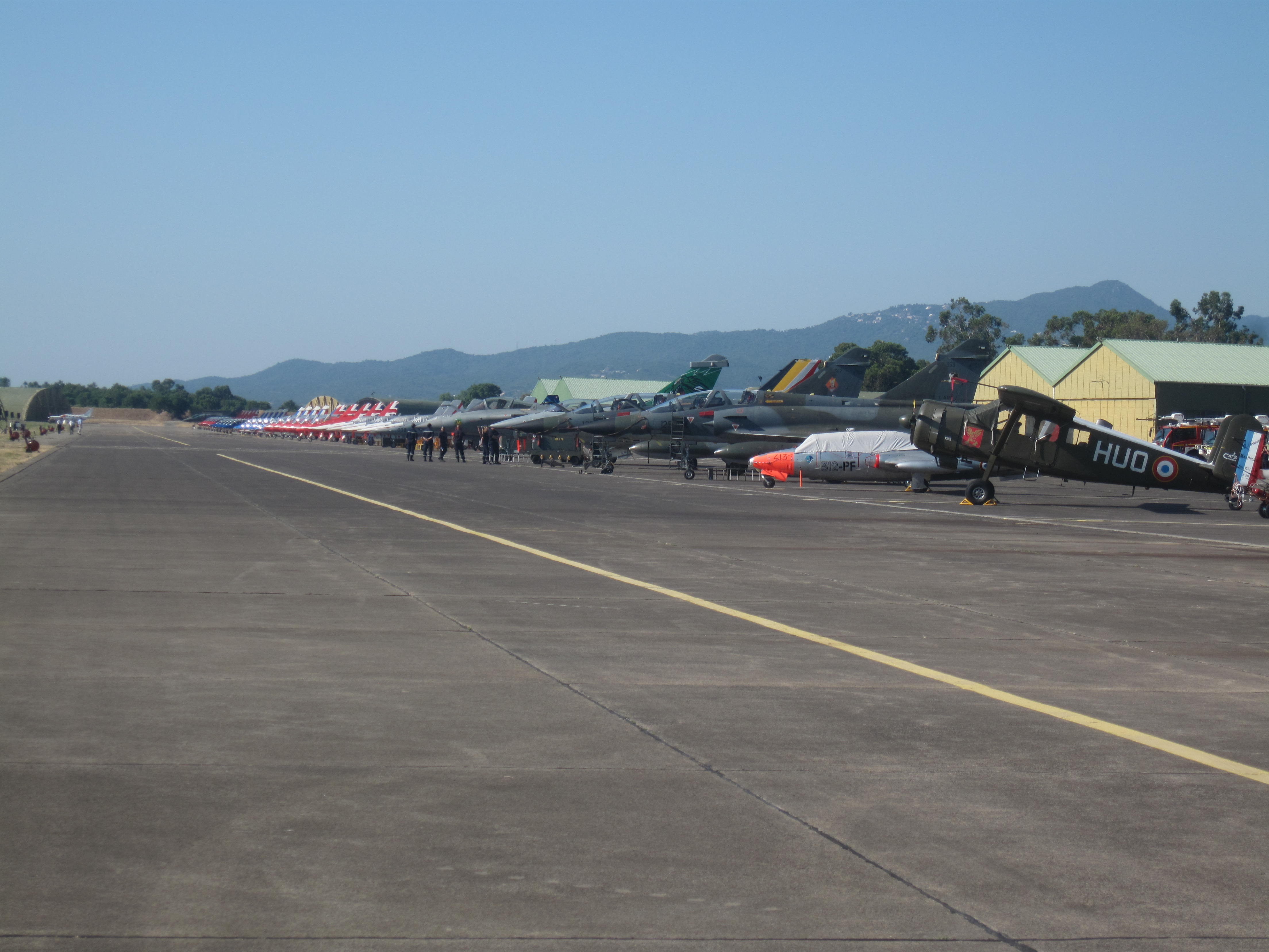 Les avions stationnés témoignent d'un programme d'une exceptionnelle qualité!