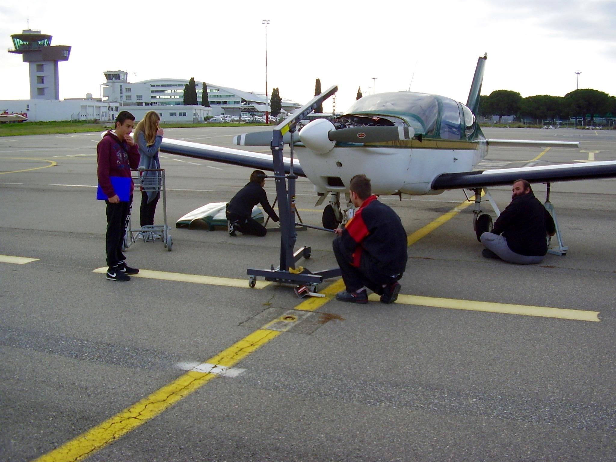 Le TB20 de Jean-Stéphane à l'entretien - Unité de maintenance PART-MF034